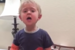 Toddler sings Les Mis classic at the top of his little lungs