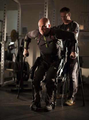Mark Pollock and his trainer Simon O'Donnel