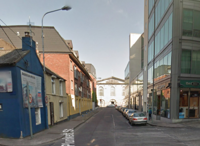 View of Lower Oliver Plunkett Street.