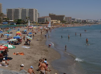 The Costa Del Sol near Torremolinos