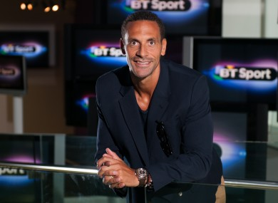 Ferdinand is working as a pundit on BT Sport's Champions League coverage this season.