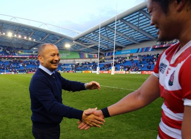 Eddie Jones masterminded the win against South Africa.