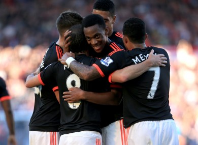 Martial starred once again.