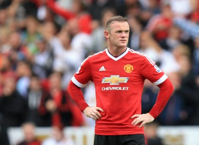 Rooney has yet to fire this season but his absence would be a blow.