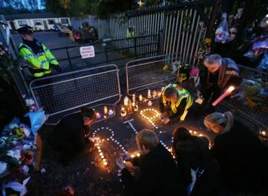 A candlelit vigil in Carrickmines last week.