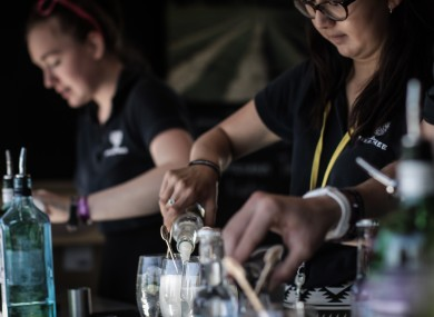The gin stall at Dorset's End of the Road festival.