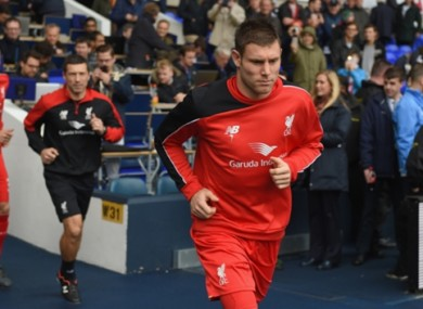 Jurgen Klopp was impressed by James Milner at the weekend.