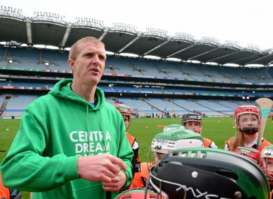 Shefflin was at Croke Park yesterday for the Centra Live Well day.