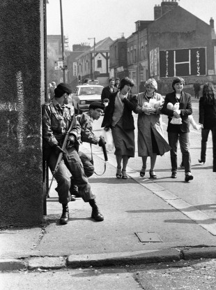 File photo of British soldiers in Northern Ireland in 1981.