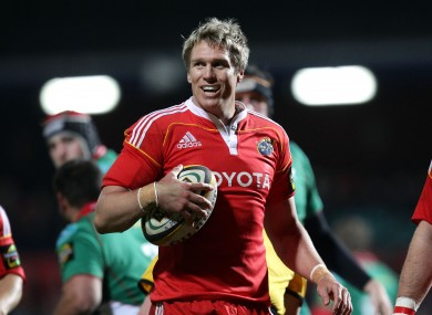 De Villiers played for Munster in the 2009/10 season.