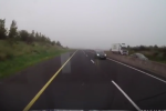 Video: Car drives wrong way up motorway before collision