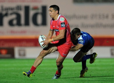 Regan King in action for Scarlets.