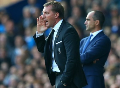 Sacked Liverpool manager Brendan Rodgers.