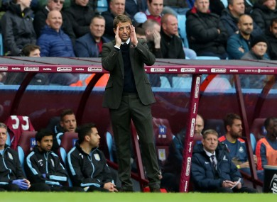 Aston Villa manager Tim Sherwood continues to see his team struggle.