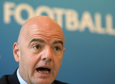 Infantino is hoping to replace Sepp Blatter as Fifa president.