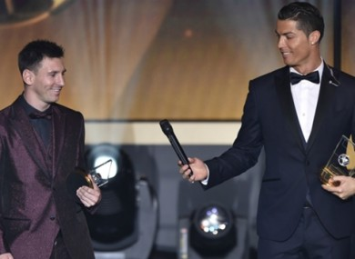Lionel Messi and Cristiano Ronaldo are nominated, believe it or not.