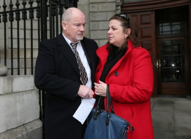 Kevin and Mary Conroy, parents of Roisin, pictured today leaving the High Court in Dublin two years ago.