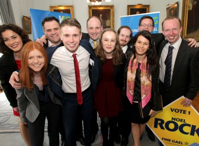 Fine Gael councillors and candidates during last year's local elections