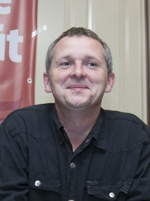 Richard Boyd Barrett at the launch of the group's alliance last month.