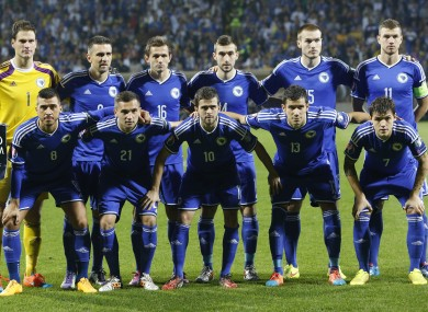 Bosnia finished third behind Belgium and Wales in Group B.