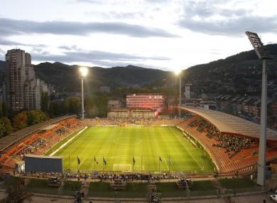 Zenica's Bilino Polje, where the first leg will be played on 13 November.