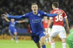 Jamie Vardy makes Premier League history as Leicester match flat United