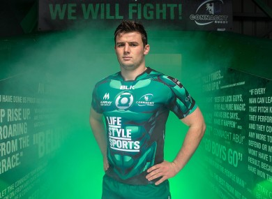 Masterson at yesterday's jersey launch in Galway.