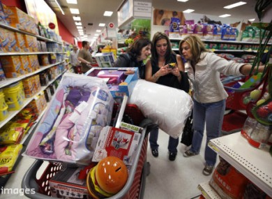 Shoppers in the US looking for bargains on Black Friday