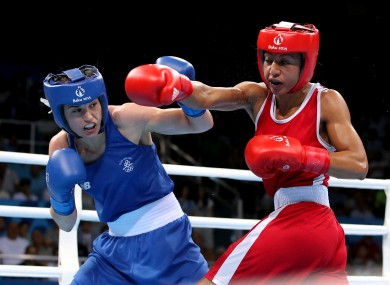 Taylor has not been in the ring since her June win over Mossely (right).