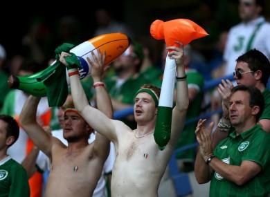 Ireland fans at Euro 2012.
