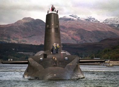 One of the UK's Trident-class nuclear subs.