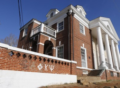 The Phi Kappa Psi fraternity house at the University of Virginia in Charlottesville