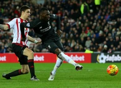 Benteke scored the winner as Liverpool beat Sunderland last night.