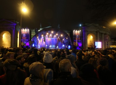 Last year's event on College Green.