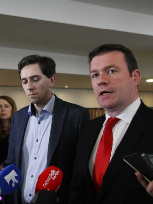 Minister of State Simon Harris and  Environment Minister Alan Kelly
