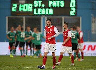 Pat's were beaten by Legia Warsawa in the Champions League qualifying rounds.