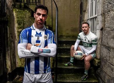 Macauley and Paul Cahillane of Portlaoise ahead of Sunday's AIB Leinster club senior football final.