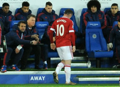 Rooney was withdrawn late on during the draw at Leicester.