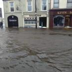 Flooding in Crossmolina, county Mayo.