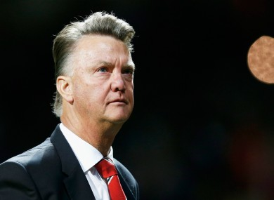 Louis van Gaal appears frustrated with United's attacking prowess.