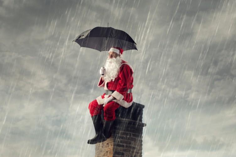 Image result for santa in rain