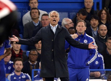 Manager Jose Mourinho was sacked by Chelsea in the week.