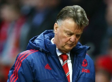 Louis van Gaal says his side lacked confidence today.