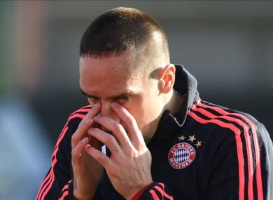 Franck Ribery tried to sue the writer for describing the Bayern Munich forward as