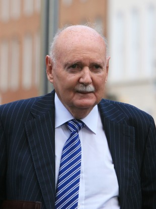 Fingleton arriving at the banking inquiry in September.
