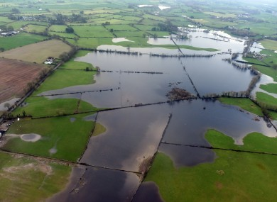 Aerial view of the recent flooding in Ballinasloe, captured by Air Corps personnel.