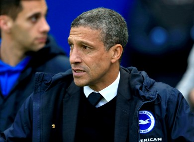 Hughton's side were dumped out of the cup.