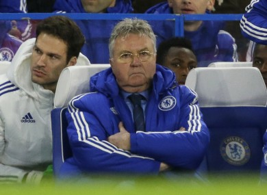 Hiddink led Chelsea on a four-match unbeaten run in all competitions.