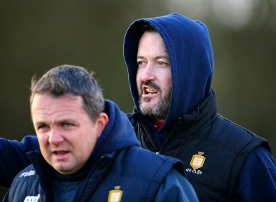 Clare selector Donal Og Cusack and manager Davy Fitzgerald.