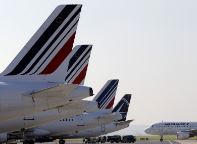 Air France planes at Charles De Gaulle.